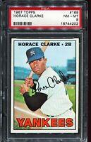 1967 Topps Baseball #169 HORACE CLARK New York Yankees PSA 8 NM-MT