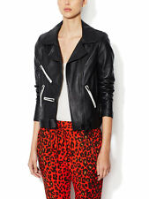 $1595 NWT ALC Theo Black Leather Belted Jacket Size 4