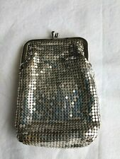 Vintage Silver Mesh Evening Bag Cigarette & Lighter Pocket