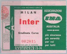 65582 - Vecchio  BIGLIETTO PARTITA CALCIO - 1973 / 1974 : MILAN / INTER