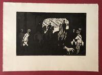 Hermann Teuber, In der Manege, Radierung, 1962, handsigniert und datiert