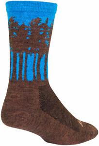 SockGuy Treeline Wool Socks | 6 inch | Brown/Blue | S/M
