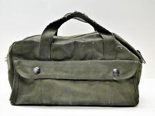 New listing Mechanics Tool Bag Heavy Weight Canvas Military Mini Duffle Tool Army Green