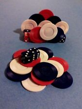 Hand Crafted Casino Desk Set - Poker Chips & Dice / Card Holder & Paperweight