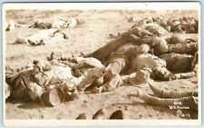 RPPC   MEXICAN BORDER WAR  Gruesome DEAD BODIES Corpses 1913 W.H. Horne Postcard