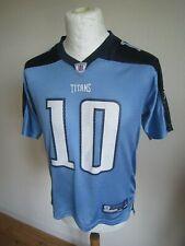 TENNESSEE TITANS NFL #10 JAKE LOCKER JERSEY youth L age 14-16/women's S-M shirt