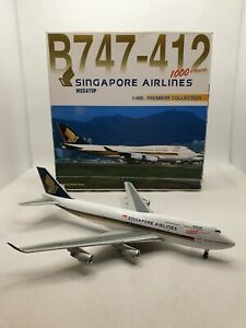 Dragon Wings1:400 Singapore Airlines 9V-SMU Boeing 747-400 Model Aircraft