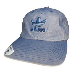 adidas Originals Womens Relaxed Denim Overdyed Baseball Cap Hat Tactic Blue New