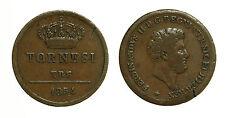 pci3276) Napoli Regno delle Due Sicilie Ferdinando II - 3  tornesi 1854