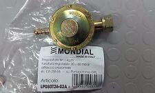 Regolatore Gas Gpl Mondial bassa pressione regolazione 20/60 mbar con portagomma