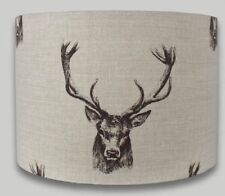 Stags Head Lampshade, Fryetts, Handmade 40cm, Country Cottage, Deer