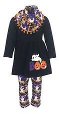 Girls Scarf Top Pants Halloween Legging Set Boutique Toddler Kids Clothes US