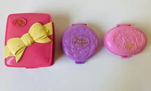 Polly Pocket Opening Toy Vintage Lot 3 Bluebird Toys Compacts 1993 - 1995