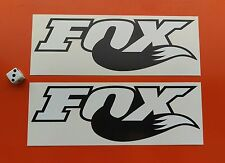 2 FOX TAIL DECALS 200MM X 65MM motorcross, BMX, surfing, mountain biking