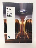 BMW 1995 Dealer Showroom Car Sales Brochure Pamphlet 18-2106