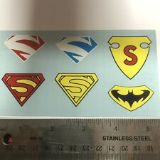 Small Superman Decals