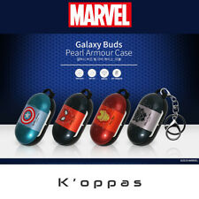 Official Marvel Pearl Armour Samsung Galaxy Buds Earphone Case Cover With Clip