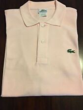 Pre-owned Lacoste Men's Pink Polo Shirt Size 4 (Medium)