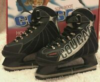 Cougar Soft Boot Hockey Skates Size 6 Black and Gray - Brand New in Box!!