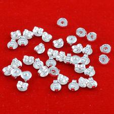 100pcs  925 silver Butterfly Earrings  Back Stoppers Scrolls Findings