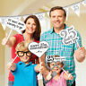 12 x 25th Silver Wedding Anniversary Party Photo Booth Props Hand held signs