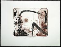 """DDR-Kunst/Nachwendezeit """"Vorort"""" 1995. Lithogr. STRAWALDE (*1931 D) handsigniert"""