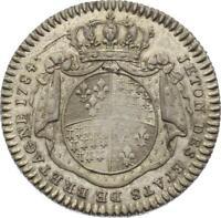 O3995 Jeton Louis XVI Etats de Bretagne 1784 Argent Silver SPL->Faire offre