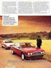 1989 Jaguar XJ6 and Police Cop Original Advertisement Print Art Car Ad J745