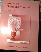 Student Solution Manual Calculus for Business,Economics,Life Sciences,& Social