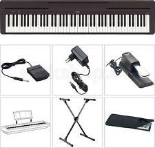 Yamaha P45 B Digital E-Piano SET mit X-Stativ Staubschutz Hülle Sustain Pedal