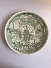 Vintage Green & White WASHINGTON D.C. Collectors Souviner Plate The White House