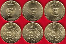 """Czech Republic set of 3 coins: 20 korun 2019 """"Personalities Curr. Series"""" UNC"""