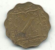 A VINTAGE HIGH GRADE AU 1944 B INDIA 1 ANNA COIN-JAN777