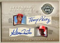 2004 UD LEGENDS TIMELESS TEAMS TONY PEREZ & GEORGE FOSTER LEGENDARY AUTO /150