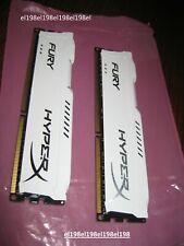 New listing Kingston 16Gb(2x8Gb) Hx316C10Fwk2/16 Fury White HyperX Ddr3-1600 *tested*