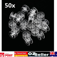 50 Empty Plastic Bobbins for Sewing Machines Janome Brother Elna Singer bobbin