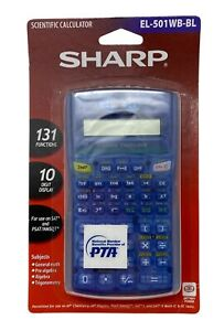 Sharp EL-501WB-BL Scientific Calculator 10 Digit Display 131 Functions PSAT/SAT