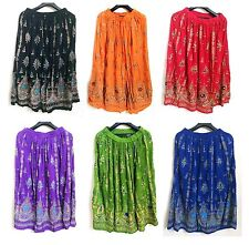 Lot 5 pcs Indian boho gypsy hippie skirts Bollywood belly dance sequin skirt