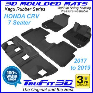 Fits Honda CR-V CRV 2017 to 2021 Genuine 3D moulded BLACK Rubber Car Floor Mats