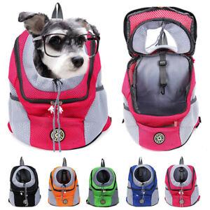Pet Dog Carrier Puppy Travel Mesh Backpack Front Travel Portable Shoulder Bag