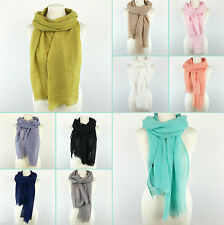Patternless 100% Cotton Women's Scarves and Shawls