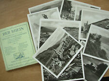 SNAP SHOT SOUVENIR ALBUM 12 REAL PHOTOGRAPH VIEWS DER RHEIN THE RHINE GERMANY
