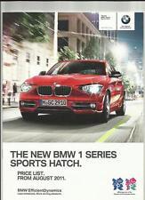 BMW 1 Serie Sport Hatch ES, SE, Sport & URBAN LISTINO opuscolo AGOSTO 2011
