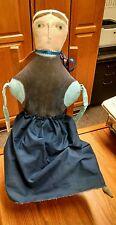 """Vintage """"Amish Racheal"""" Rag Cloth Doll, Folk Art Doll"""