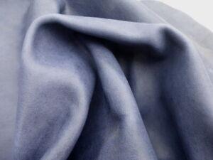 Goatskin leather hide Antiqued Stone Washed Dark Indigo Blue 2 1/2-3 oz