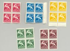 Hungary #481-485 Boy Scouts 5v Blocks of 4