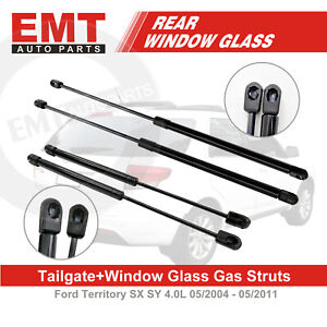 Rear Tailgate + Window Glass Gas Struts For FORD Territory SX SY 05/2004-05/2011