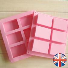 * vendedor Reino Unido * 6 Celdas rectángulo De Silicona Jabones Chocolate Pastel Molde