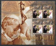 Tuvalu 2005 Papst Johannes Paul II. QE II Pope John Paul Religion 1219 MNH
