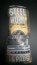 HOMAX STEEL WOOL #0000 SUPER FINE 1 BAG (16PADS) BRAND NEW